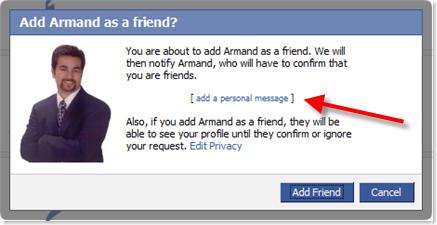 Add Facebook Friend - Armand Morin