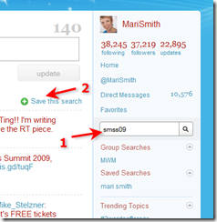 Twitter home page search