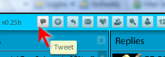 Tweeting from TweetDeck