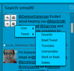 TweetDeck tweeting options