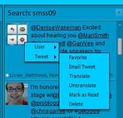 TweetDeck tweeting options