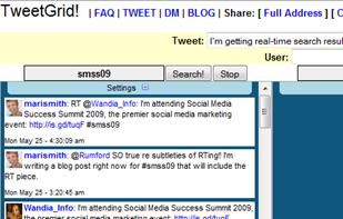 TweetGrid options