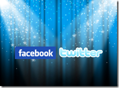 Facebook & Twitter - social media success