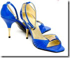 Mari Smith blue stilletoes