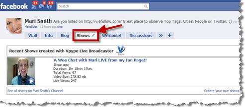 Facebook fan page - Vpype