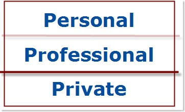 Personal, Professional and Private
