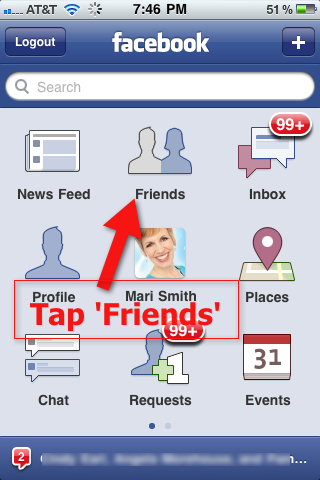 Facebook iPhone - Friends Icon