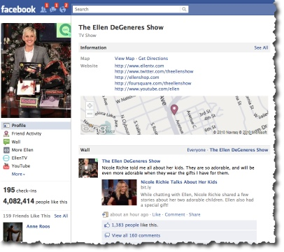 The Ellen Show - Facebook Fan Page