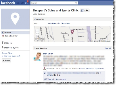 Facebook Place Page - Chiropractor