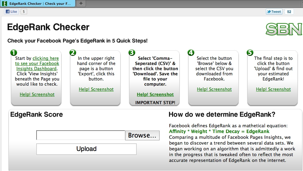 EdgeRank Checker App