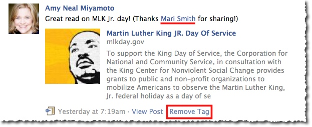 Facebook Remove Tag Example