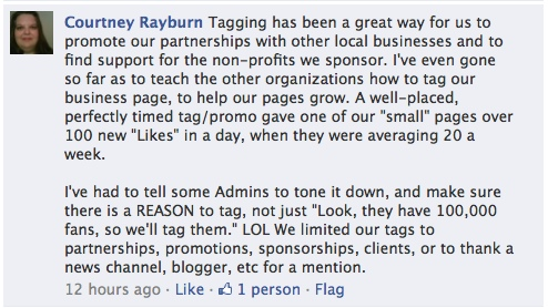 Facebook Tagging Etiquette Working