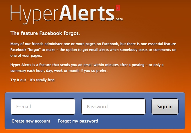 Facebook Fan Page Notifications With Hyper Alerts Free App!