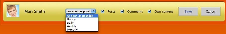 Hyper Alerts Facebook fan page settings