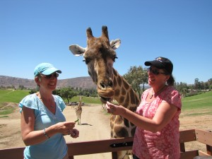 Mari Smith and Moira Hutchison - San Diego Safari Park