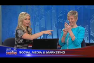 Alexis DelChiaro and Mari Smith on KUSI TV