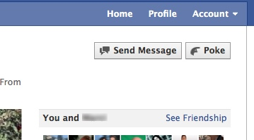Facebook New Profile Design - Send Message to Friend