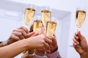 Happy New Year - Cheers! Champagne Toast!