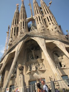 One of the many facades of la Sagrada Família