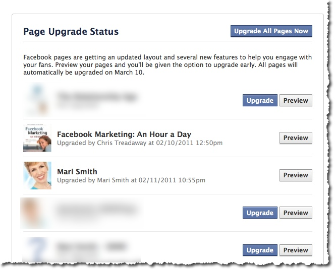 Upgrade Your Facebook Pages