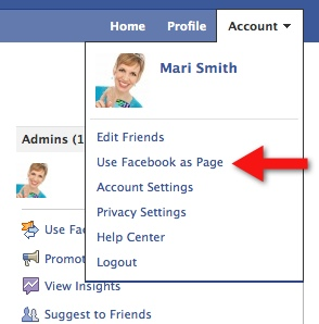 Switch to Facebook Page View