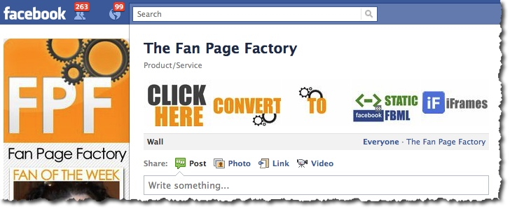 Fan Page Factory - Facebook Page