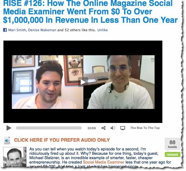David Garland Interviews Mike Stelzner
