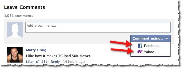 Login Using Yahoo or Facebook