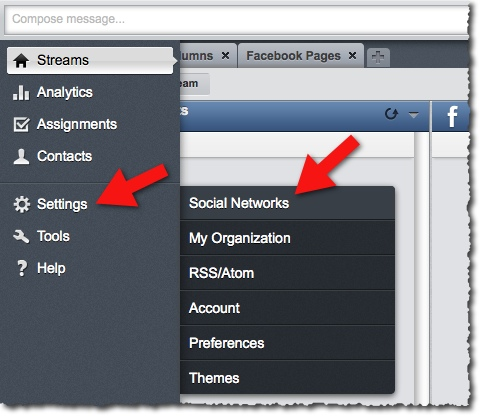 hootsuite add social networks
