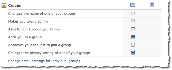 Facebook Groups - Email Notifications