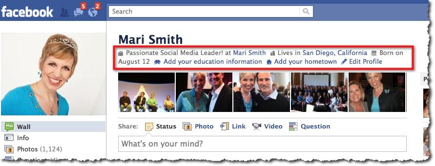 Facebook Profile Mari Smith