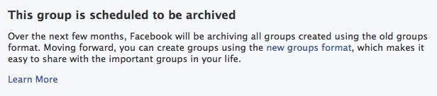 Archive Old Facebook Group