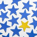 blue stars and one gold