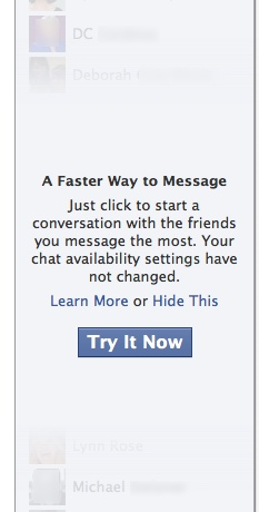 Facebook Chat Sidebar