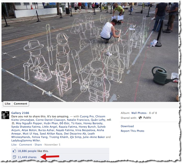 Sidewalk art - Facebook post