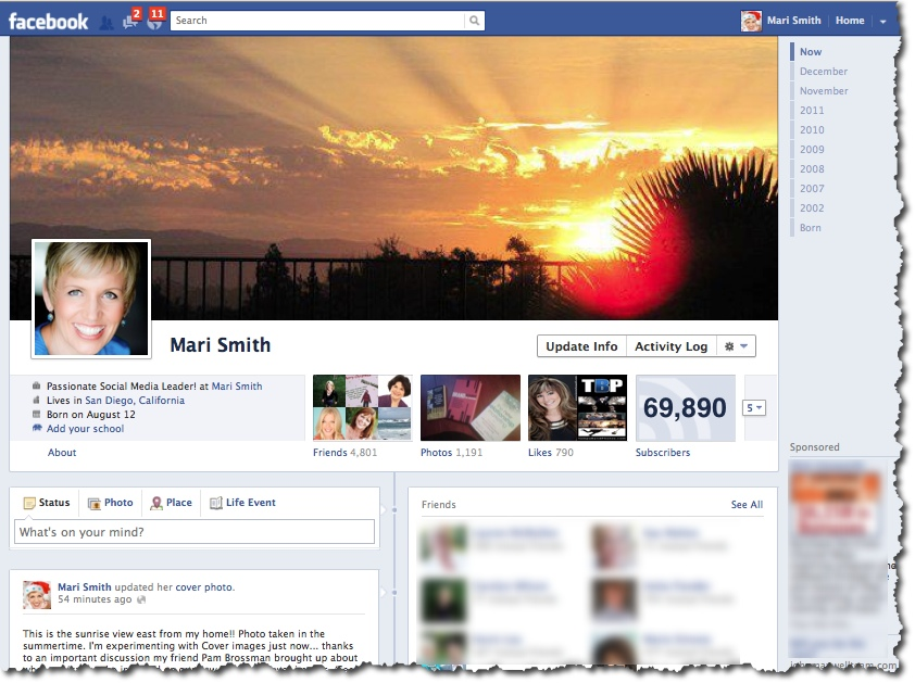 Mari Smith - Facebook Timeline Cover Image