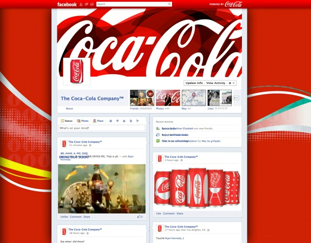 Coca-Cola Facebook Timeline Brand Page