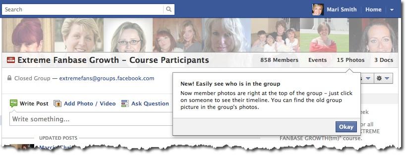 Facebook Group - New Member Photos