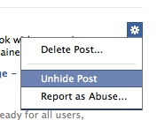 Facebook Hidden Post Gear