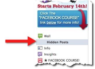 Facebook Hidden Post Link