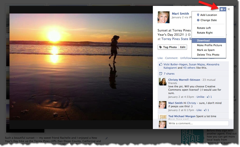 Facebook Photo Viewer - Options