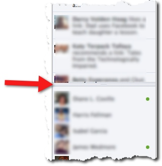 Facebook Ticker Chatbar Line