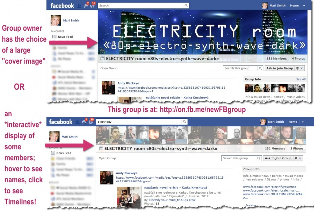 Facebook Groups - New Design With Cover Image