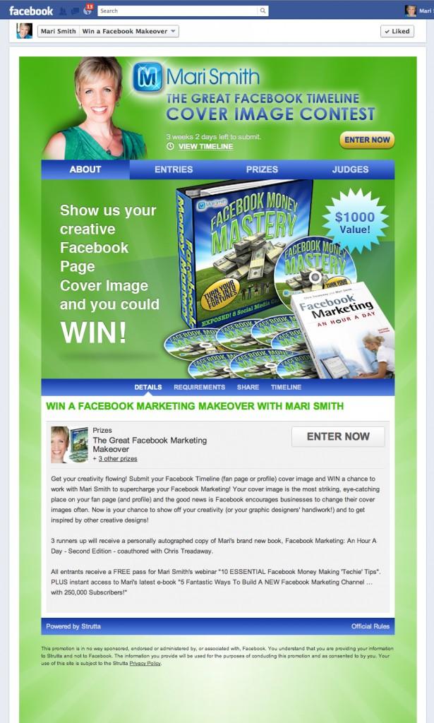Facebook timeline cover image contest