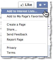 Facebook Fan Page - Add To List