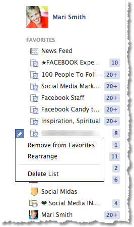 Facebook Favorites