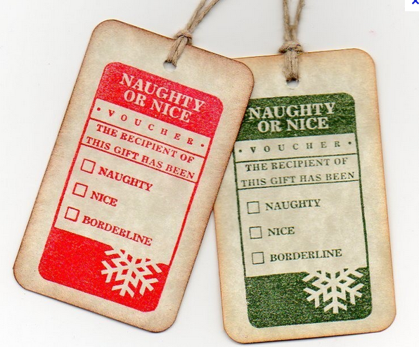 Naughty and Nice Gift Tags