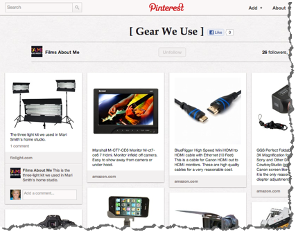 FAME - Pinterest Board - Gear We Use