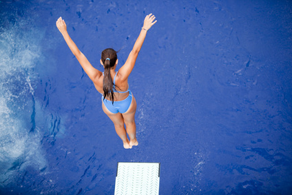 Woman Diving - Jump In!