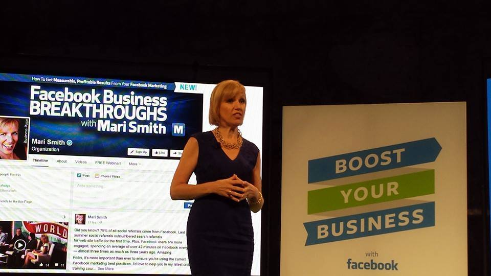 Facebook Boost Your Business fbboost - mari smith
